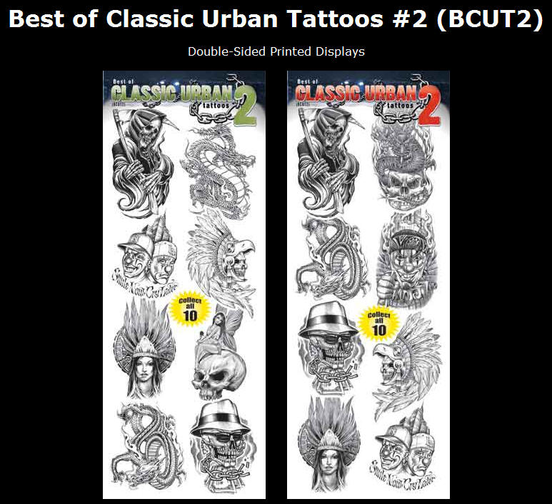 Best of Classic Urban Tattoos #2 (BCUT2). Display