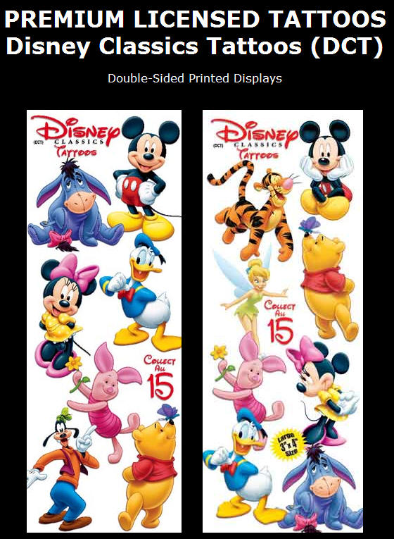 Disney Classics Tattoos (DCT). Display