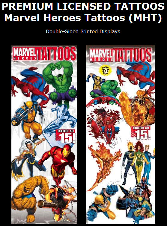 Marvel Heroes Tattoos (MHT). Display